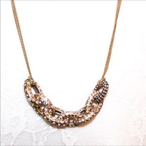 J. Crew Jewelry Gold Tone Pave Bling Necklace